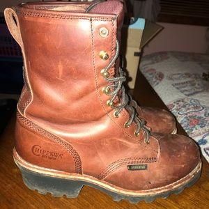 Men's steel toe Chippewa boots
